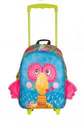 Okiedog - Okiedog Wildpack Küçük Çek Çek Çocuk Okul Çantası Junior Papağan