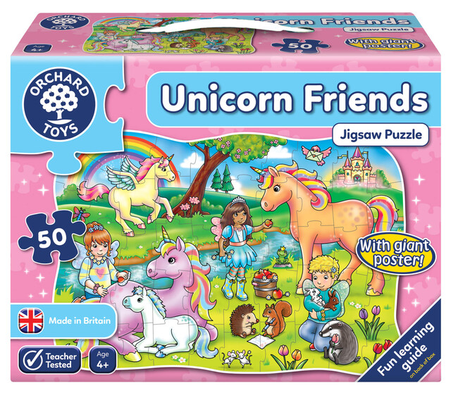 Orchard Toys - Orchard Unicorn Friends (At Ve Arkadaşlar Yapboz) 4 Yaş+