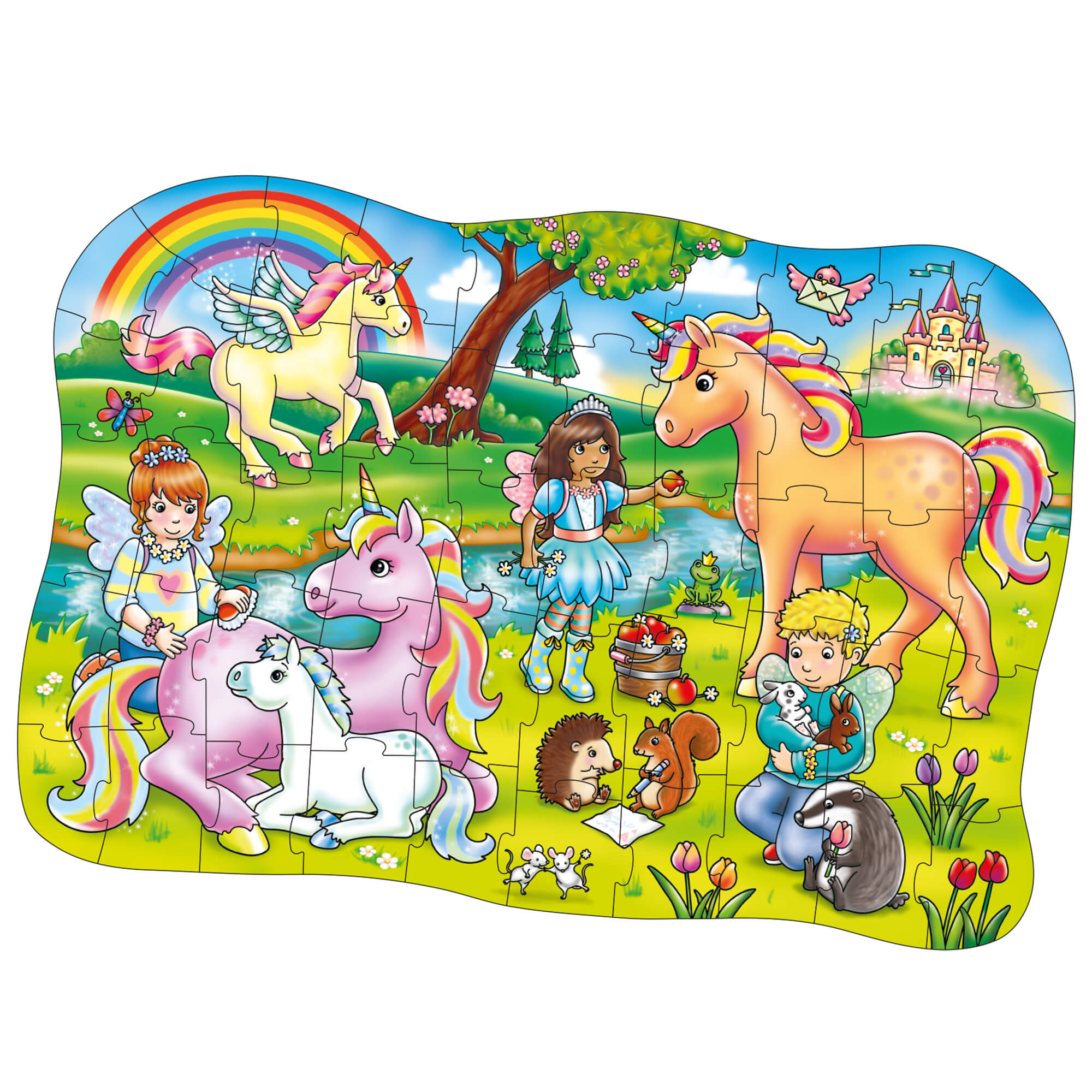 Orchard Unicorn Friends (At Ve Arkadaşlar Yapboz) 4 Yaş+