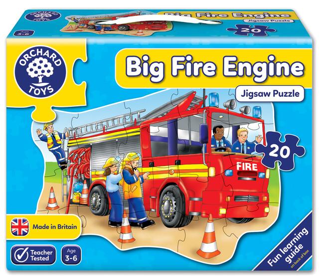 Orchard Toys - Orchard Big Fire Engine ( Büyük İtfaiye Aracı Yapbozu) 3-6 Yaş