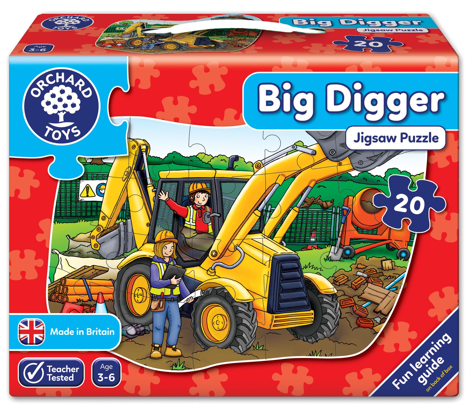 Orchard Big Digger (Büyük Kazıcı Yapboz) 3-6 Yaş