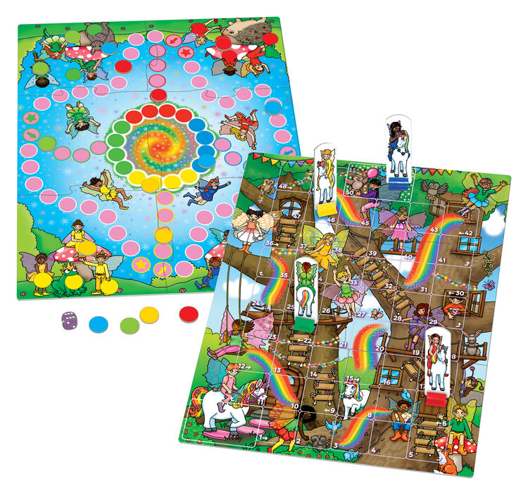 Orchard Toys - Orchard Fairy Snakes and Ladders & Ludo 5-9 Yaş
