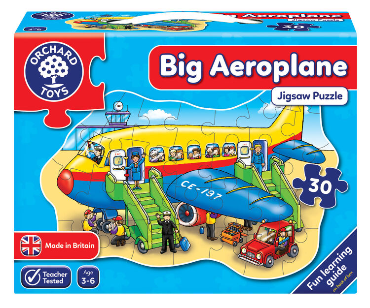 Orchard Toys - Orchard Big Aeroplane (Büyük Uçak Yapboz) 3-6 Yaş