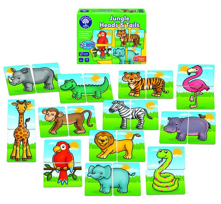 Orchard Toys - Orchard Jungle Heads and Tails (İlk Eşleştirme Aktivitesi) 18 Ay+