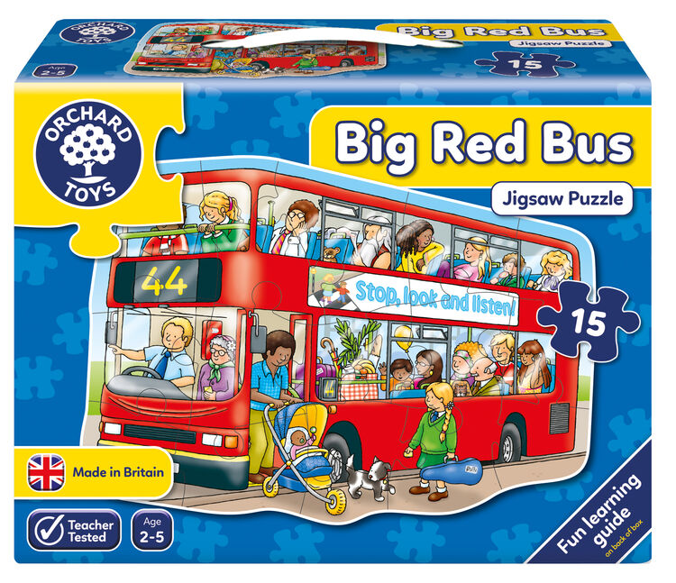 Orchard Toys - Orchard Big Red Bus (Büyük Otobüs Yapbozu) 2-5 Yaş