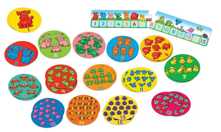 Orchard Toys - Orchard One Dog, Ten Frogs (Toplama Çıkarma Hafıza Kartı) 3 Yaş+