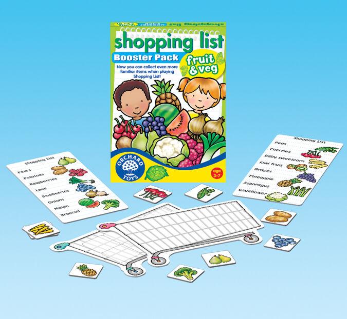 Orchard Toys - Orchard Shopping List Fruit & Veg (Alışveriş Arabası) 3-7 Yaş