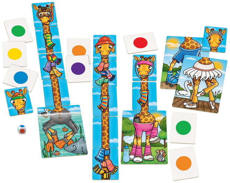 Orchard Toys - Orchard Giraffes in Scarves (Zürafaların Renkli Atıkları) 4-7 Yaş