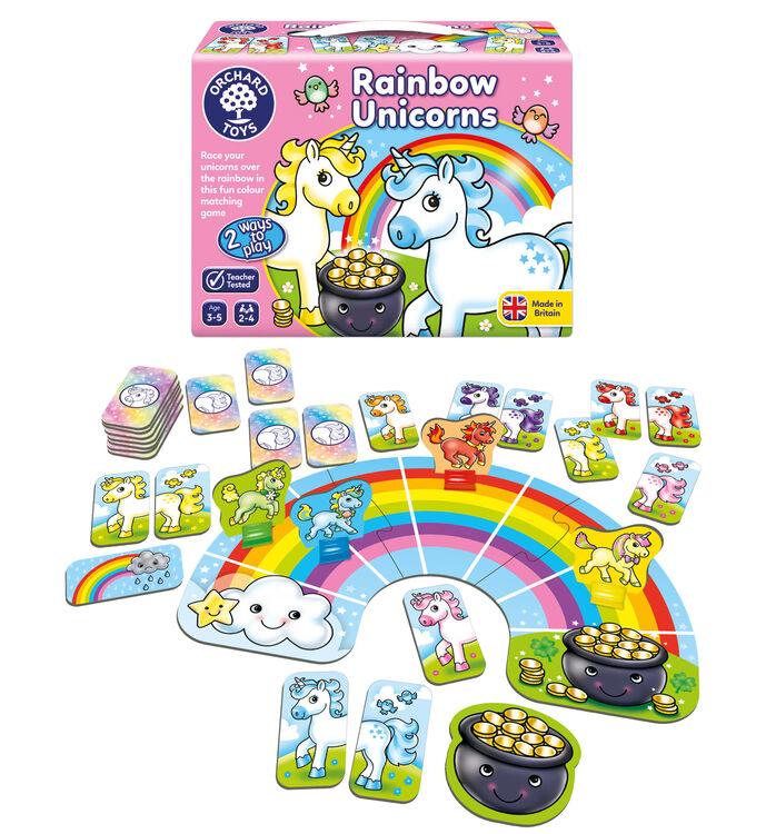 Orchard Toys - Orchard Rainbow Unicorns (Unicorn Gökkuşağı Eşleştirme Oyunu) 3-5 Yaş