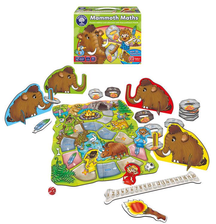 Orchard Toys - Orchard Mammoth Maths (Toplama Çıkarma Oyunu) 4-8 Yaş