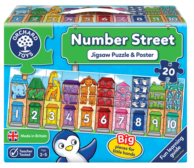 Orchard Toys - Orchard Number Street ( Sayı Yapbozu ) 2-5 Yaş