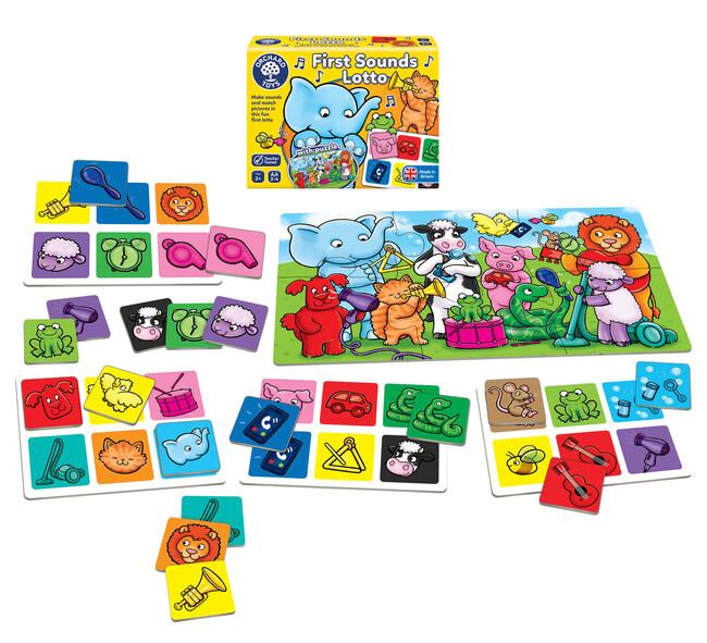 Orchard Toys - Orchard First Sounds Lotto and Puzzle (Sesli Tombala Oyunu) 2 Yaş+