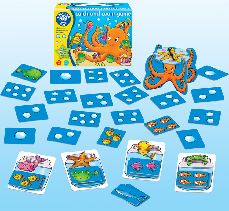 Orchard Toys - Orchard Catch & Count Game (Balık Ve Ahtapot Yakalama Oyunu) 3 Yaş+