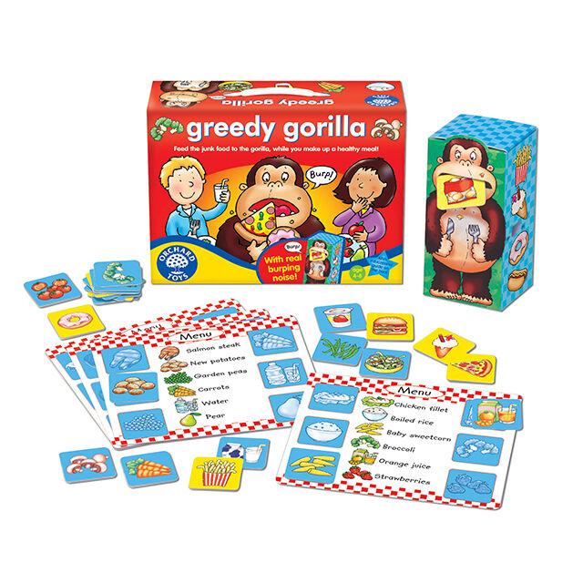 Orchard Toys - Orchard Greedy Gorilla (Aç Gözlü Goril ) 4-8 Yaş