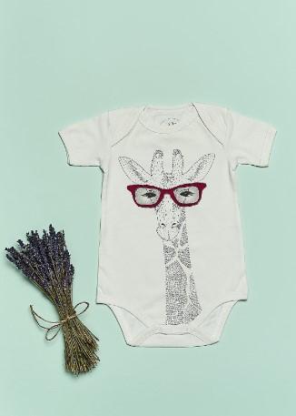 Bluuh Baby - Organik Body Zürafa Kısa Kol