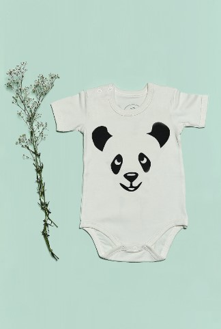 Bluuh Baby - Organik Body Panda Kısa Kol