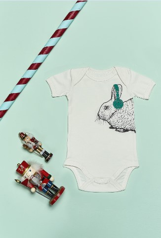 Bluuh Baby - Organik Body Tavşan Kısa Kol