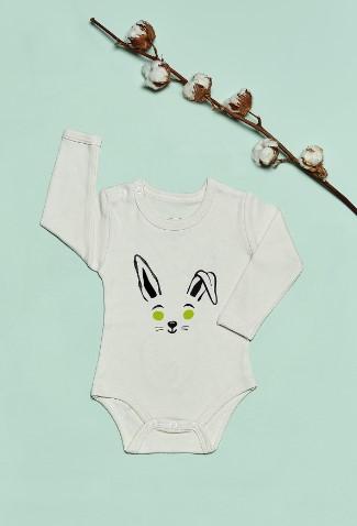 Bluuh Baby - Organik Body Yeşil Tavşan Uzun Kol