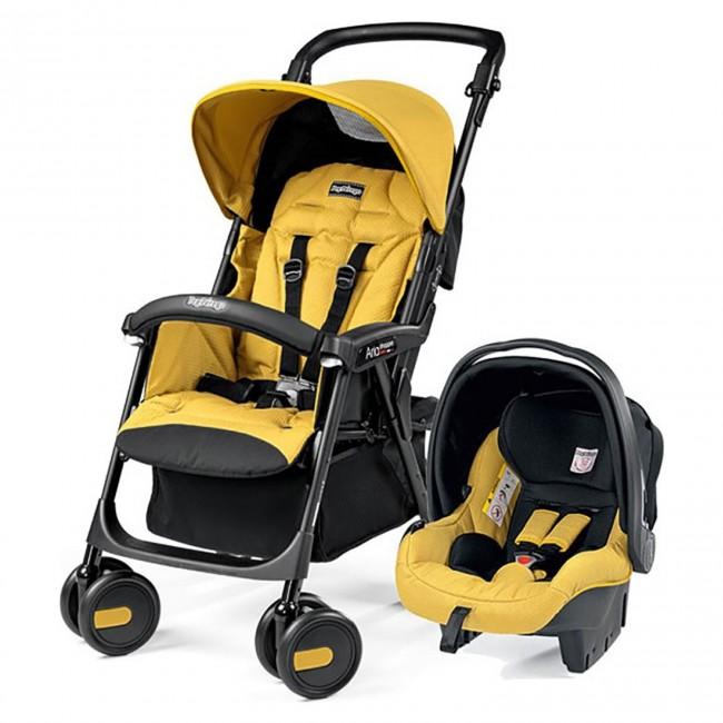 Peg Perego - Peg Perego Aria Shopper Clasico Travel Sistem Bebek Arabası