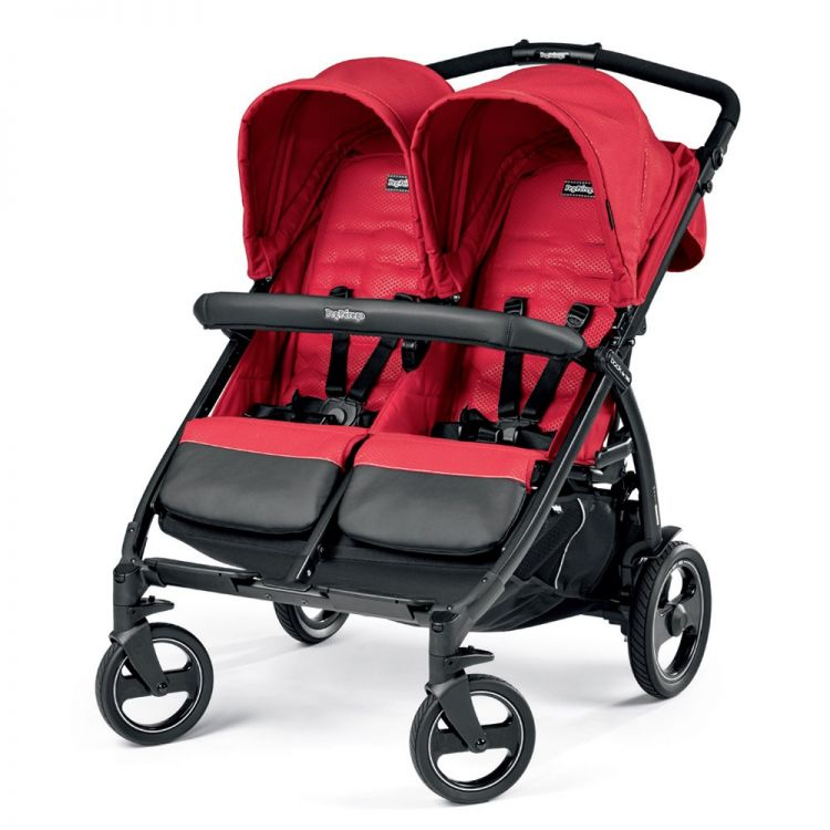 Peg Perego - Peg Perego Book For Two Classico İkiz Bebek Arabası Mod Red