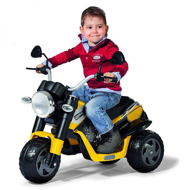 Peg Perego - Peg Perego Ducati Scrambler 6 Volt Motor Sarı