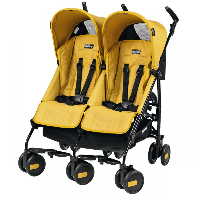 Peg Perego - Peg Perego Pliko Mini Classico Twin İkiz Bebek Arabası Mod Yellow
