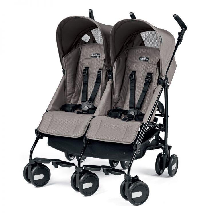 Peg Perego - Peg Perego Pliko Mini Classico Twin İkiz Bebek Arabası Mod Beige