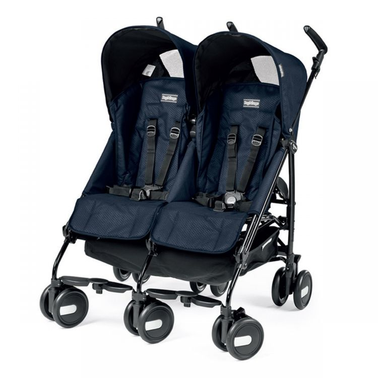 Peg Perego - Peg Perego Pliko Mini Classico Twin İkiz Bebek Arabası Mod Navy