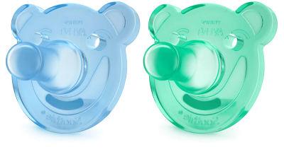 Avent - Philips Avent 0% BPA Soothie Yalancı Emzik 0-3 ay Erkek 2'li (Mavi-Yeşil) SCF194/01
