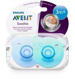 Philips Avent 0% BPA Soothie Yalancı Emzik 3+ ay Erkek 2li - Thumbnail