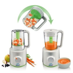 Philips Avent Buharlı Pişirici ve Blender Wasabi (SCF870/22) - Thumbnail