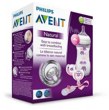 Philips Avent Fil Desenli Biberon Hediye Seti kız (SCD628/01)