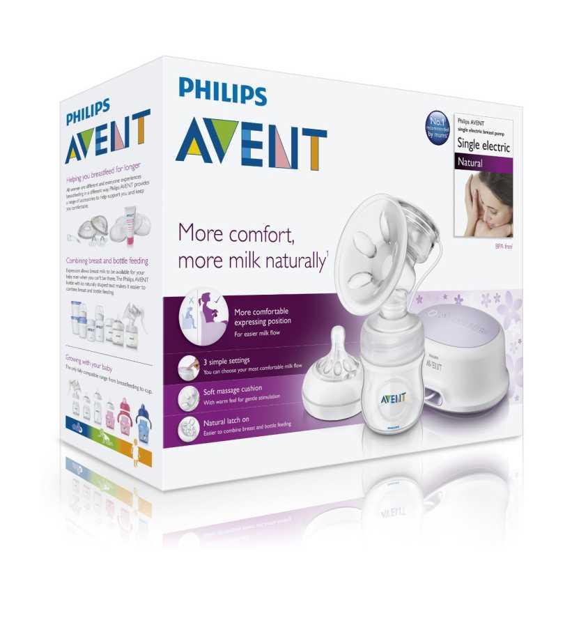 Philips Avent Natural Elektronik Göğüs Pompası (SCF332/01-Emzirme Tshirtü Hediyeli)