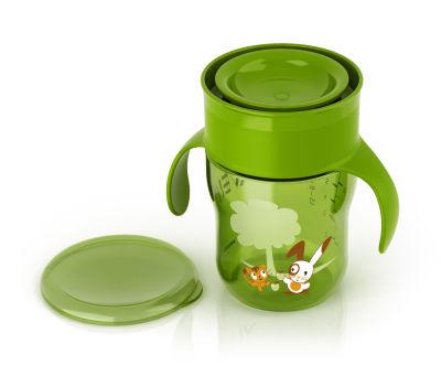 Avent - Philips Avent Truman Desenli Magic Alıştırma Bardağı 260ml (SCF782/00 ) -Yeşil