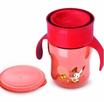 Avent - Philips Avent Truman Desenli Magic Alıştırma Bardağı 260ml (SCF782/00 )- Kırmızı