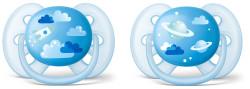 Avent - Philips Avent Ultra Soft Desenli Emzik (6-18 Ay) Erkek- (SCF222/22 )