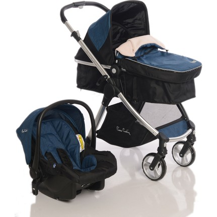 Pierre Cardin - Pierre Cardin Trendy Travel Sistem Bebek Arabası Mavi