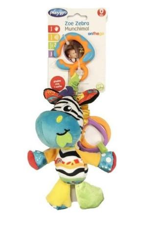playgro - Playgro Munchimal Peluş Aktivite Oyuncağı - Zebra