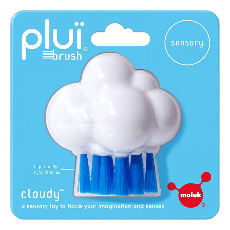 Moluk Design - Plui Brush Cloudy (Beyaz-Mavi)
