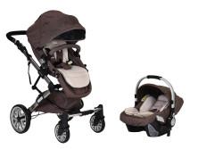 Prego - Prego 2070 Laon Travel Sistem Bebek Arabası - Kahve