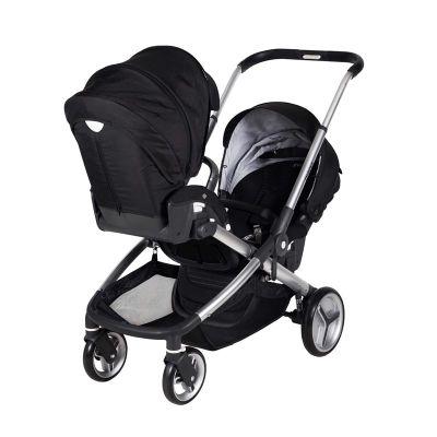 Prego - Prego 2072 İbiza İkiz Bebek Arabası Siyah