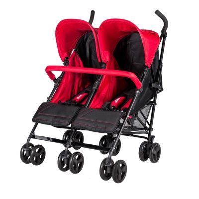 Prego - Prego 2074 Monart İkiz Bebek Arabası Kırmızı