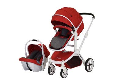 Prego - Prego Quattro Travel Sistem Bebek Arabası - Kırmızı
