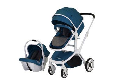 Prego - Prego Quattro Travel Sistem Bebek Arabası - Mavi