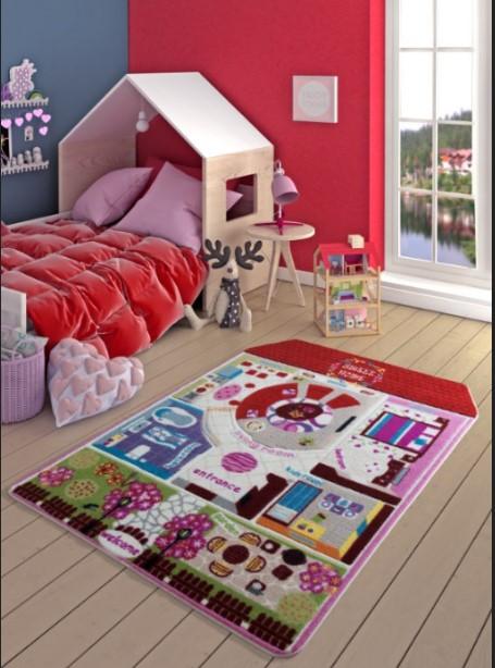 Confetti - Confetti Pretty Home 133x190 Kırmızı Oymalı
