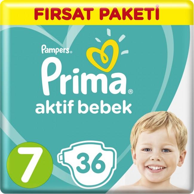 Prima - Prima Bebek Bezi Aktif Bebek 7 Beden XX Large Fırsat Paketi 36 Adet