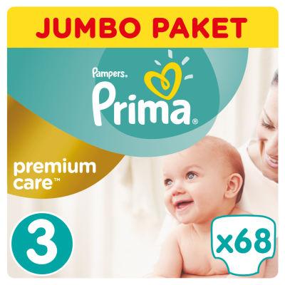 Prima - Prima Bebek Bezi Premium Care 3 Beden Midi Jumbo Paket 68 Adet