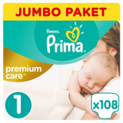 Prima - Prima Bebek Bezi Premium Care 1 Beden Yenidoğan Jumbo Paket 108 Adet