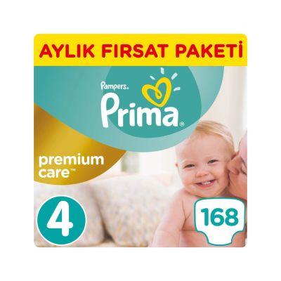 Prima - Prima Bebek Bezi Premium Care 4 Beden Maxi Aylık Fırsat Paketi 168 Adet