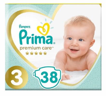 Prima - Prima Bebek Bezi Premium Care 3 Beden Midi Ekonomi Paketi 38 Adet